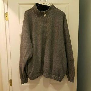 Gray Quarter Zip Pullover Fleece